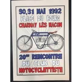 Affiche Motocyclettiste